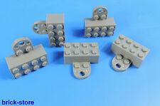 LEGO®  2x4 dunkel-grau Magnetsteine / Magnets   /   5 Stück