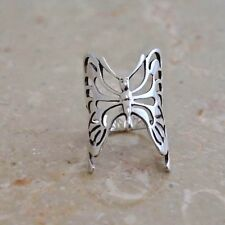 """LONG FILIGREE BUTTERFLY RING   1"""" long  All Genuine Sterling Silver Size 6"""