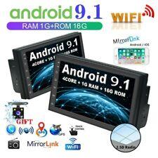 7inch AUTORADIO 2 Din ANDROID 9.1 WIFI GPS NAVI Mirror Link BT MP5 STEREO+Camera