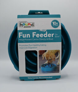 """NEW Outward Hound Fun Feeder Slo Bowl Large 11"""" prevents canine obesity & bloat"""