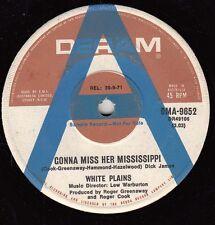WHITE PLAINS Gonna Miss Her Mississippi / I'll Go Blind 45 - A Label Promo