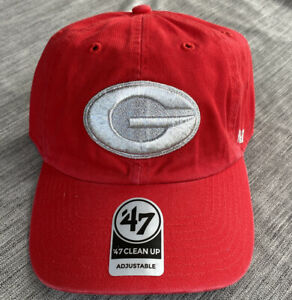 '47 Brand Clean Up Georgia Bulldogs Metallic Red/Silver Adjustable Hat Cap