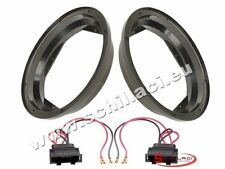 Adattatori altoparlanti Casse 200 mm +  per VolksWagen VW Bora / Golf 4 portiere