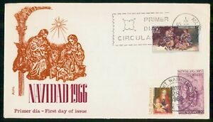 Mayfairstamps SPAIN FDC 1966 COVER CHRISTMAS TRIPLED FRANKING wwi93707