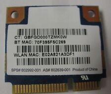 HP Ralink RT3090BC4 802.11b/g/n WiFi N+ BT Bluetooth PCI-e Card SPS: 602992-001