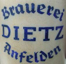 ++Brauerei DIETZ Anfelden Lkr. Ansbach 1 Liter Bierkrug++