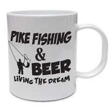 Taza De Pesca Divertido-Pike Pesca & Beer-Pesca/pescado/Padre/Abuelo Regalo