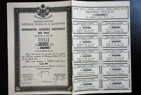Romania 1944 Pristine Bond Intact with Stubs