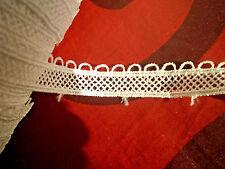 Feine Saum Spitzenborte REINWEISS mit Glanz 13mm Dentelle Lace csipke шнурок