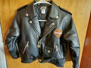 Harley Davidson Simulated Leather Jacket Size 7 Excellent Condition