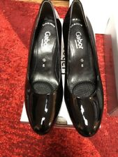 Gabor Ruthin Wide Block Heeled Court Shoes Black Size 5g