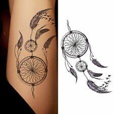 Flash Einmal Temporary Klebe Tattoo Traumfänger Schwarz Körper Body Geschenk
