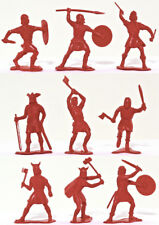 25 Marx Recast Vikings red color - 54mm soft plastic figures VERY LOW STOCK!!!