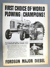 Original 1956 Fordson Major Diesel Tractor 1ST CHOICE OF WORLD PLOWING CHAMPIONS