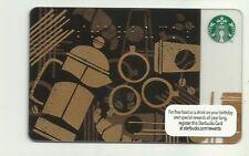 "STARBUCKS CARD ""BRAILE"" 2013 UNUSED PIN COATING INTACT USA"