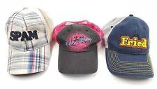 SPAM Baseball Cap Lot / Stretch & Snapback
