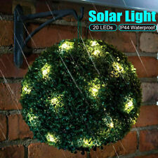 Topiary Ball Garden Light Cafe Bar Hanging Lamp Ornament 20 LED Solar Powered