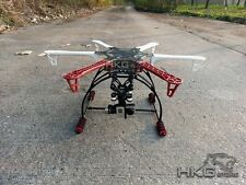 F550 HJ550 Multicopter Hexacopter Frame + Universial Tall Landing Skid Gear -Red