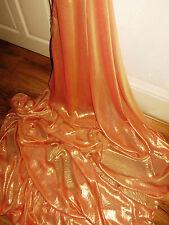 """10M  dress Cationic Chiffon Orange  shimmer soft dress chiffon  58"""" WIDE"""