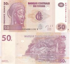 CONGO,2013,,50 FRANCS,, LOT OF 20 UNC BANKNOTES (S)