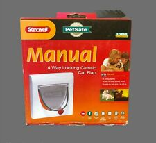 Staywell Pet Safe  Classic Manual 4 Way Locking Dogs Cats Flap New and Boxed