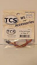 "TCS #1411 6-Pin 2x3 Connector with 32 ga. 6"" multi-colored Wires NEW"