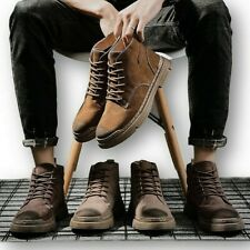 Breathable 2020 New Martin boots high top men's shoes British casual short boots