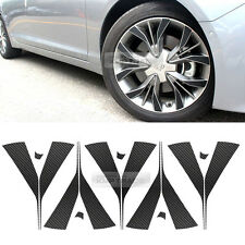 "For HYUNDAI 15-17 Sonata Carbon Black Spoke Wheel Vinyl Decal Sticker 18"" 60Pcs"