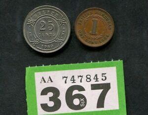 Set of 2  coins of     British Honduras / Belize