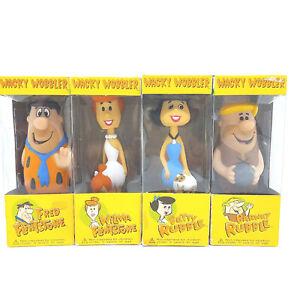 FLINTSTONE Wacky Wobbler FUNKO Bobblehead 4 Set with Barney, Wilma, Betty, Fred
