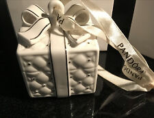 Pandora White Porcelain Gift Box W Silver Accents Ornament 2016 collectible