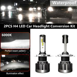 2PCS H4 LED Car Headlight Conversion Bulbs 110W 30000LM White Lamps Power 6000K