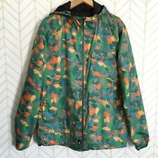 LRG Lifted Research Group Mens Size L Large Windbreaker Jacket Leaf Camo