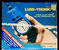 VTG 1976 LUMI-TRONIC 11 Home Electronic BLOOD PRESSURE Unit 9V Medical Device