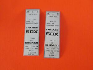 1993 CHICAGO WHITE SOX CARLTON FISK HOF LAST CAREER GAME PLAYED TICKET STUB