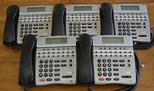 Lot of 5 NEC Dterm 80 Telephones DTH-16D-2 (BK) TEL 780575 Black Tested Warranty