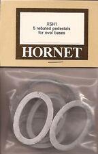 Hornet Rebated Pedestals for Oval Bases White Medal #HOXSH1