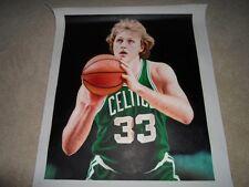 Larry BIRD Boston Celtics Original Poster Oil Canvas Painting Real Retro 24 x 20