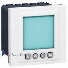 Interrupteur horaire programmable 2 modules Mosaic Legrand 78425