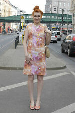 Damen Kleid dress orange pink rosa 60er True VINTAGE 60´s women Sommer summer