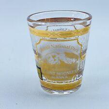 Vintage Culver Shotglass Denali National Park Alaska  22K Gold Trimmed EUC