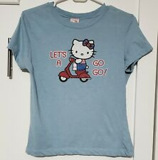 2005 MIGHTY FINE Sanrio Hello Kitty Graphic t-shirt top Juniors LARGE scooter UK