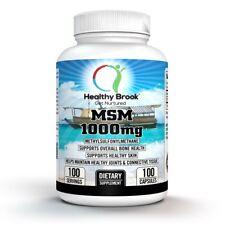 Healthy Brook MSM 1000mg 100 capsules