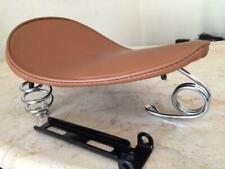 HARLEY CHOPPER BOBBER SUZUKI KAWASAKI BROWN SOLO SEAT + SPRING BRACKET XS650