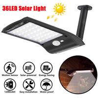 Best 36 LED Solar Power Wall Street PIR Motion Sensor Garden Yard Light Lamp USA
