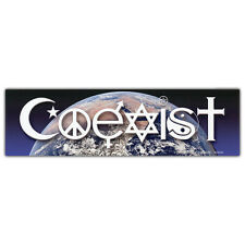 CS006 Coexist Earth Color Bumper MAGNETIC sticker Peace Interfaith Tolerance