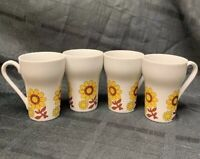 Vintage Ceramic Coffee Mug with Flowers lot of 4