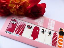 Nail Art Self Adhesive Full Nail Polish Wrap Sticker Mickey Spot Heart Kiss 1042