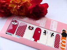 Nail Art Self Adhesive Full Nail Polish Wrap Sticker Mickey Spot Heart Kiss 1042