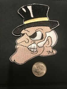 """Wake Forest Demons Vintage Embroidered Iron On Patch 3"""" X 2.5"""" Apx"""